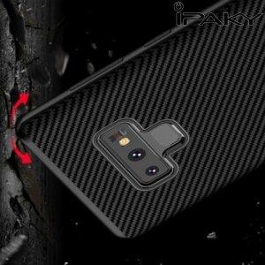 IPAKY Yuyan Series противоударный силиконовый чехол для Samsung Galaxy Note 9 с серой рамкой