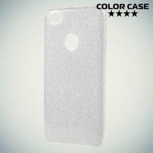 Искрящийся блестящий чехол для Xiaomi Redmi Note 5A Prime 32Gb/64Gb - Серебряный