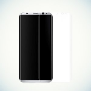 Изогнутая защитная пленка с закругленными краями для Samsung Galaxy S8