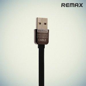 Кабель для iPhone и iPad Lightning Remax плоский черный