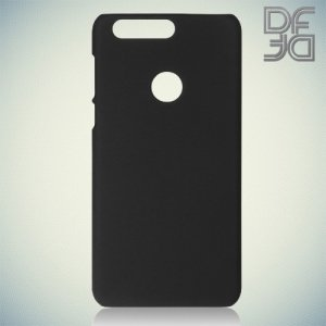 Кейс накладка DF Soft Touch для Huawei Honor 8 - Черный