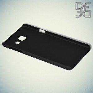 Кейс накладка DF Soft Touch для Samsung Galaxy A3 2016 SM-A310F - Черный