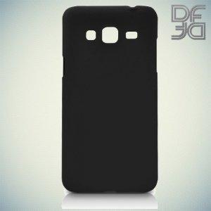 Кейс накладка DF Soft Touch для Samsung Galaxy J3 2016 SM-J320F - Черный