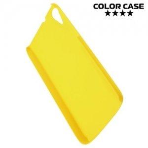 Кейс накладка для HTC Desire 828 Dual SIM - Желтый