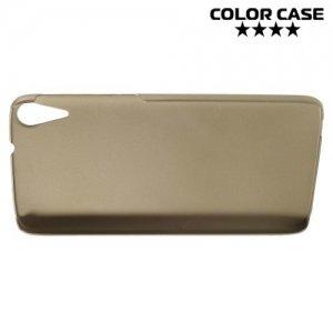 Кейс накладка для HTC Desire 828 Dual SIM - Золотой
