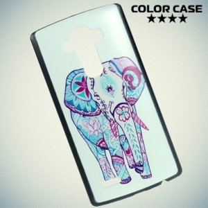 Кейс накладка для LG G4 с рисунком Слон