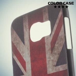 Кейс накладка для Samsung Galaxy S6 с орнаментом Британский флаг