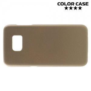 Кейс накладка для Samsung Galaxy S7 Edge - Золотой