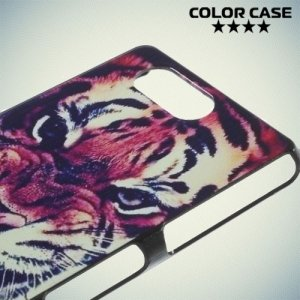 Кейс накладка для Sony Xperia Z3 Compact D5803 - с рисунком Тигр