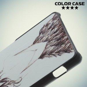Кейс накладка для Sony Xperia Z3 Compact D5803 - с рисунком Девушка