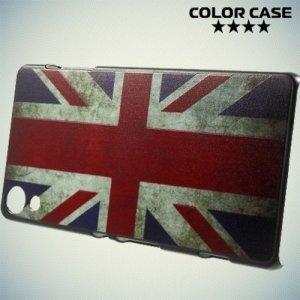 Кейс накладка для Sony Xperia Z3+ с орнаментом Британский флаг
