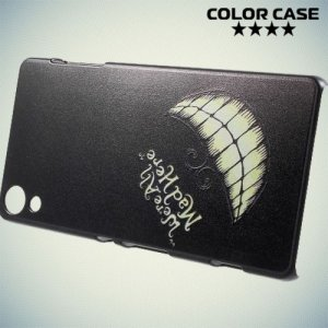 Кейс накладка для Sony Xperia Z3+ с орнаментом Улыбка Чеширского кота