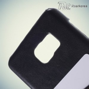 Кейс накладка с отделением для банковской карты для Samsung Galaxy Note 5 - темно-синий
