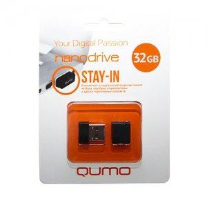 Компактная флешка для телефона и ноутбука USB Qumo Nanodrive 32Гб