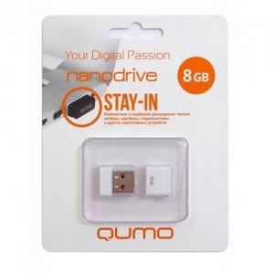 Компактная флешка для телефона и ноутбука USB Qumo Nanodrive 8Гб