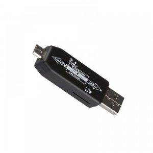 Компактный картридер 2 в 1 с USB и micro USB и слотами для чтения USB и Micro SD карт