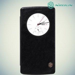 Книжка чехол для LG G4 - Nillkin Qin Черный