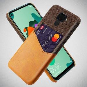 KSQ PU Кожаный Кейс Накладка Чехол для Huawei Mate 30 Lite и Слот для Карты Коричневый