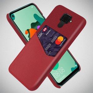 KSQ PU Кожаный Кейс Накладка Чехол для Huawei Mate 30 Lite и Слот для Карты Красный