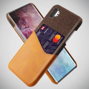 KSQ PU Кожаный Кейс Накладка Чехол для Samsung Galaxy Note 10 Plus и Слот для Карты Коричневый