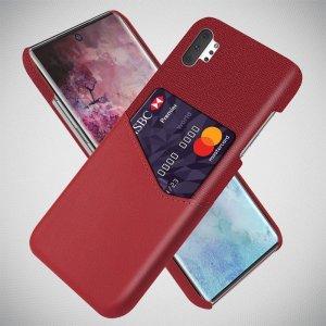 KSQ PU Кожаный Кейс Накладка Чехол для Samsung Galaxy Note 10 Plus и Слот для Карты Красный