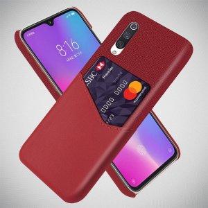KSQ PU Кожаный Кейс Накладка Чехол для Xiaomi Mi A3 и Слот для Карты Красный