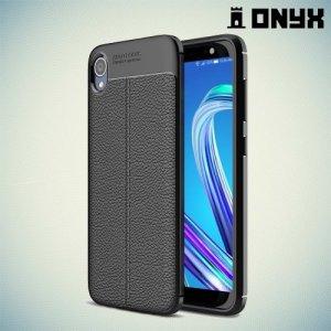 Leather Litchi силиконовый чехол накладка для ASUS Zenfone Live L1 ZA550KL - Черный