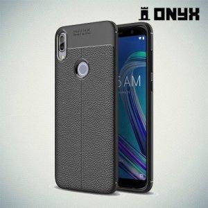 Leather Litchi силиконовый чехол накладка для Asus Zenfone Max Pro (M1) ZB601KL - Черный