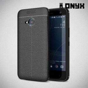 Leather Litchi силиконовый чехол накладка для HTC U11 Life - Черный