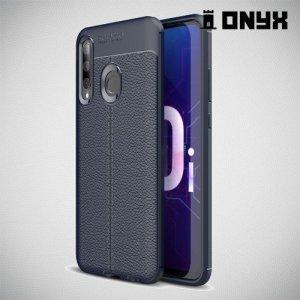 Leather Litchi силиконовый чехол накладка для Huawei Honor 20 Lite - Синий