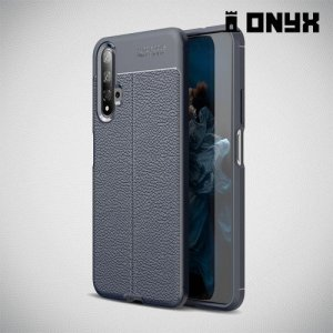 Leather Litchi силиконовый чехол накладка для Huawei Nova 5T - Синий