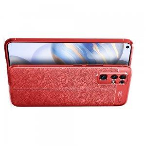 Leather Litchi силиконовый чехол накладка для Huawei Honor 30 - Красный