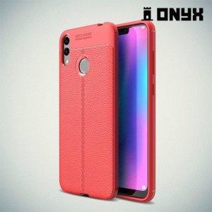 Leather Litchi силиконовый чехол накладка для Huawei Honor 8C - Коралловый