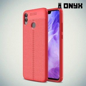 Leather Litchi силиконовый чехол накладка для Huawei Honor 8X - Коралловый