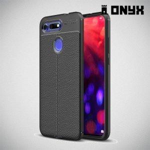 Leather Litchi силиконовый чехол накладка для Huawei Honor View 20 (V20) - Черный