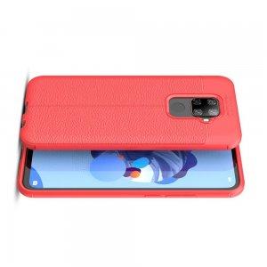 Leather Litchi силиконовый чехол накладка для Huawei Mate 30 Lite - Красный