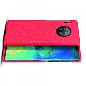 Leather Litchi силиконовый чехол накладка для Huawei Mate 30 Pro - Красный