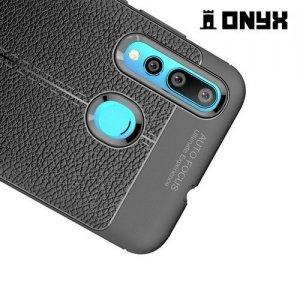 Leather Litchi силиконовый чехол накладка для Huawei nova 4 - Черный
