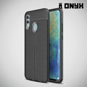 Leather Litchi силиконовый чехол накладка для Huawei P Smart 2019 / Honor 10 lite - Черный