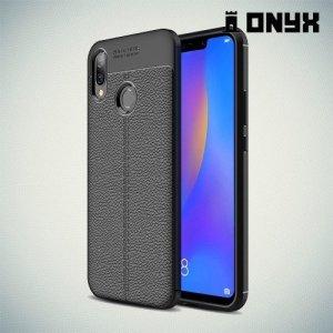 Leather Litchi силиконовый чехол накладка для Huawei P smart+ / Nova 3i - Черный