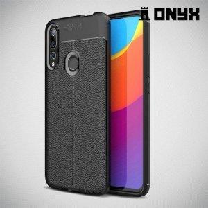 Leather Litchi силиконовый чехол накладка для Huawei P Smart Z - Черный