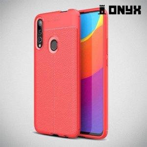 Leather Litchi силиконовый чехол накладка для Huawei P Smart Z - Коралловый