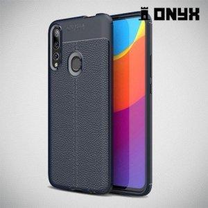 Leather Litchi силиконовый чехол накладка для Huawei P Smart Z - Синий