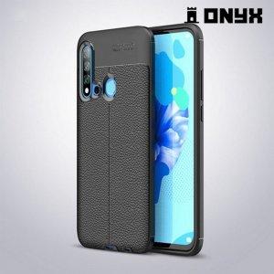 Leather Litchi силиконовый чехол накладка для Huawei P20 lite (2019) / nova 5i - Черный