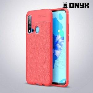 Leather Litchi силиконовый чехол накладка для Huawei P20 lite (2019) / nova 5i - Коралловый