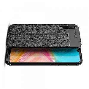 Leather Litchi силиконовый чехол накладка для Huawei Y8p / Honor 30i - Черный
