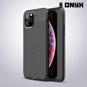 Leather Litchi силиконовый чехол накладка для iPhone 11 Pro - Черный