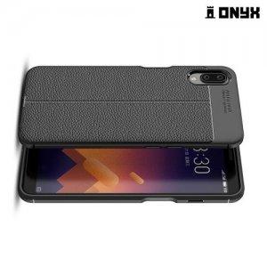 Leather Litchi силиконовый чехол накладка для Meizu E3 - Черный