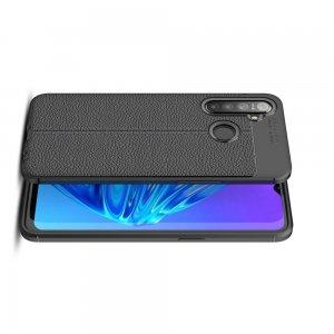 Leather Litchi силиконовый чехол накладка для OPPO Realme 5 - Черный