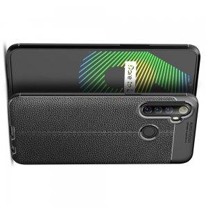 Leather Litchi силиконовый чехол накладка для Realme 6i - Черный